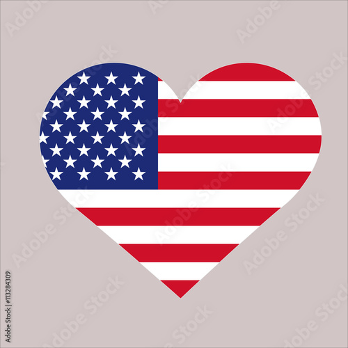 Wall mural USA flag