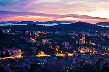 Town of Murter sunset view