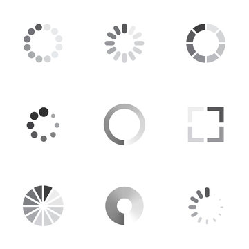 Vector loading icons set