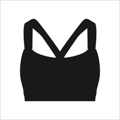 Sports bra sign simple icon on background