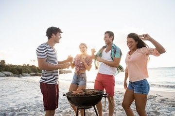 Friends having a barbecue