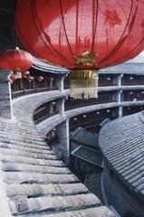 Hakka Tulou round earth buildings, Zhenchenglou, UNESCO World Heritage Site, Fujian Province, China, Asia