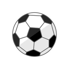 Soccer ball .Football vector icon isolated on a white background.Sport equipment
