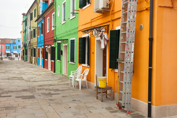 view from the Burano island, Venice
