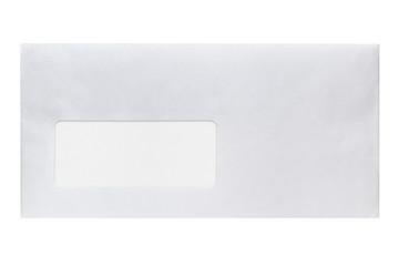 Envelope with address window isolated on white background