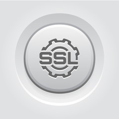 SSL Settings Icon. Flat Design.