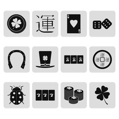 Luck symbol sign simple icon set
