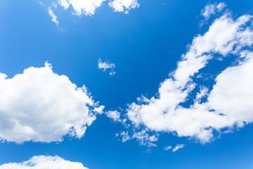 Blue sky clouds background sunshine