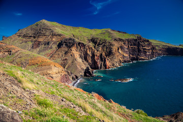 cliffs and ocean at Ponta do Sao Lourenco