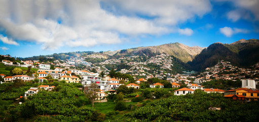 panoramic view of the Funchal's suburb