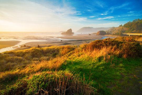 Sunrise at Oregon coast