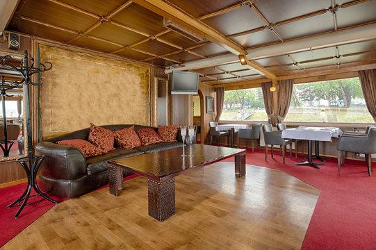 Interior of a luxury cruise restaurant