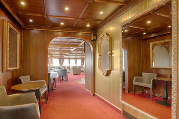 Interior of a luxury cruise boat