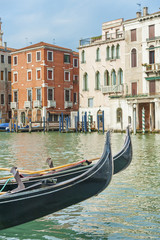 Fototapete - gondola for tourist travel at canal Venice, Italy .