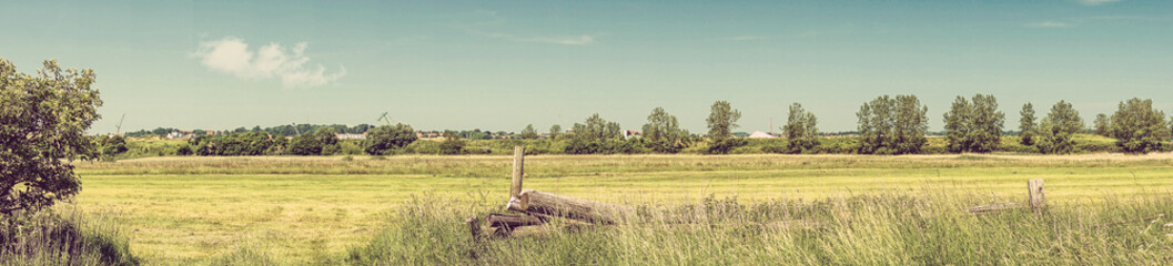 Rural western landscape in the summer