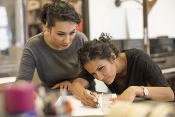 Creative businesswomen working in office