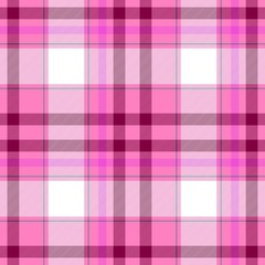 check diamond tartan plaid fabric seamless pattern texture background - pink, purple and white colored