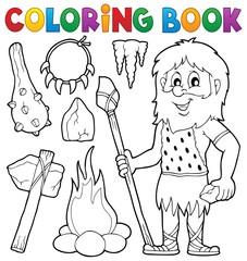 Coloring book prehistoric thematics 1