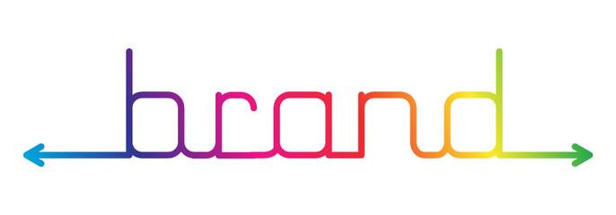 BRAND vector icon