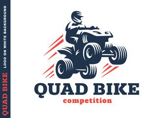 Quad bike competition. Logo design
