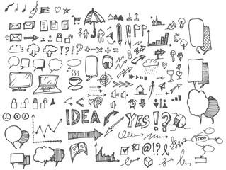 Business doodles sketch eps10 vector