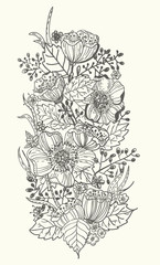 Stylish floral doodle background