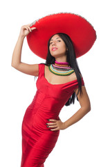 Mexican woman in fashion concept