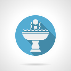 Refreshing fountain blue round vector icon