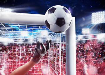 Goalkeeper in the stadium. 3D Rendering