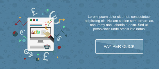 Pay per click website banner.