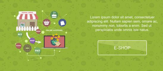 E-shop website banner.