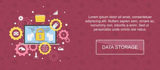 Data storage banner.