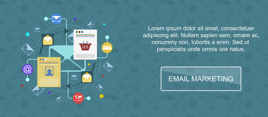 Email marketing banner.