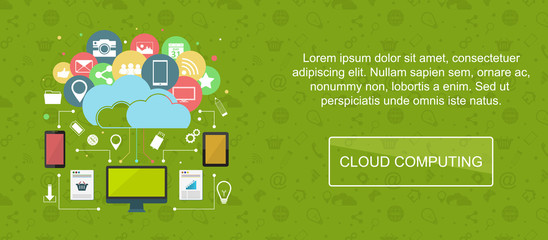 Cloud computing banner.