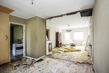 Room undergoing renovation