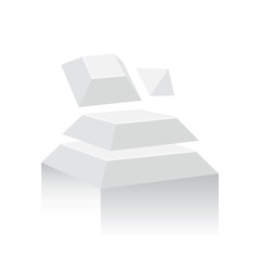 Abstract Object 3D  white color