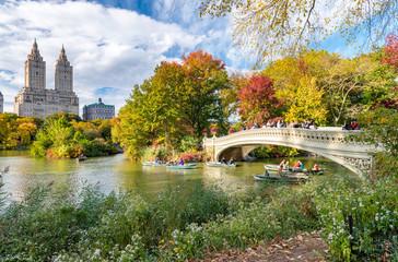 Fond de hotte en verre imprimé New York City Beautiful foliage colors of New York Central Park