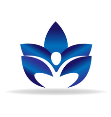 Lotus yoga figure logo