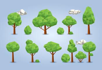 Low polygon trees set