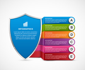 Infographic with security shield.