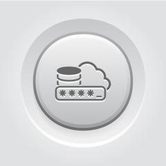 Secure Cloud Storage Icon.