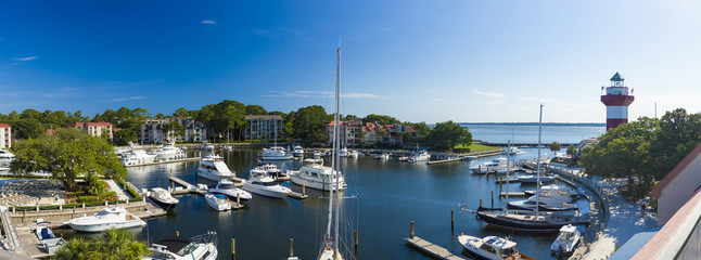 Overhead view of Hilton Head