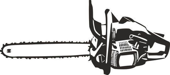 chainsaw illustration isolated