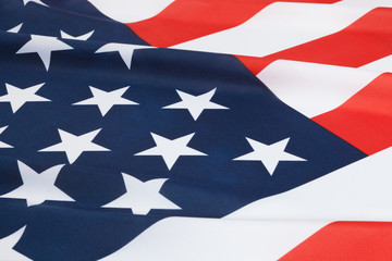 Ruffled national flags - United States of America