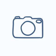 Camera sketch icon.