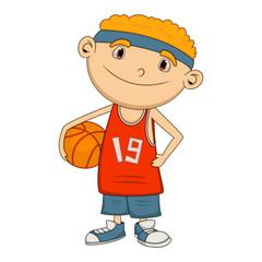 Boy Basketball player cartoon