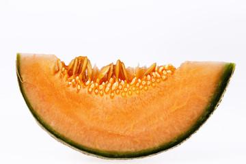 Melon cantaloupe isolated on white background