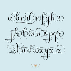 Hand drawn font set