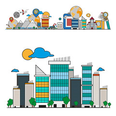 City scene background