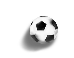 football soccer ball 3d illustration isolated